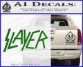 Slayer Decal Sticker Green Vinyl Black 120x97