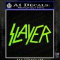 Slayer Decal Sticker Neon Green Vinyl Black 120x120