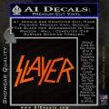 Slayer Decal Sticker Orange Emblem Black 120x120