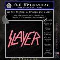 Slayer Decal Sticker Soft Pink Emblem Black 120x120