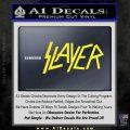 Slayer Decal Sticker Yellow Vinyl Black 120x120