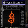 Slip Knot Band Decal Sticker S Orange Emblem Black 120x120