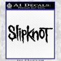 Slipknot Band Decal Sticker Black Vinyl Black 120x120