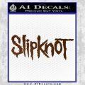 Slipknot Band Decal Sticker Brown Vinyl Black 120x120