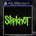 Slipknot Band Decal Sticker Neon Green Vinyl Black 120x120