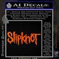 Slipknot Band Decal Sticker Orange Emblem Black 120x120