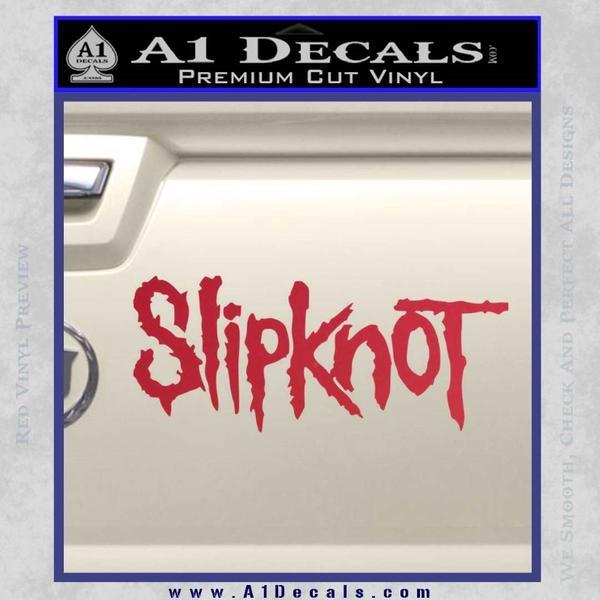 Slipknot Band Decal Sticker Red Vinyl Black