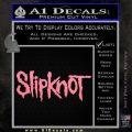 Slipknot Band Decal Sticker Soft Pink Emblem Black 120x120