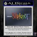 Slipknot Band Decal Sticker Spectrum Vinyl Black 120x120