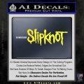 Slipknot Band Decal Sticker Yellow Vinyl Black 120x120