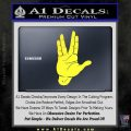 Spock Decal Sticker Star Trek Live Long And Prosper Yellow Vinyl Black 120x120