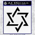 Star Of David Decal Sticker Black D1 Vinyl Black 120x120