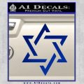 Star Of David Decal Sticker D1 Blue Vinyl Black 120x120