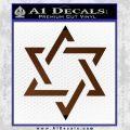 Star Of David Decal Sticker D1 Brown Vinyl Black 120x120