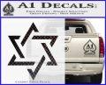 Star Of David Decal Sticker D1 CFB Vinyl Black 120x97