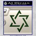 Star Of David Decal Sticker D1 Dark Green Vinyl Black 120x120