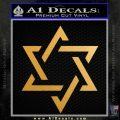 Star Of David Decal Sticker D1 Gold Metallic Vinyl Black 120x120