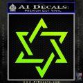 Star Of David Decal Sticker D1 Neon Green Vinyl Black 120x120