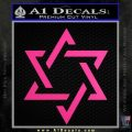 Star Of David Decal Sticker D1 Neon Pink Vinyl Black 120x120
