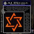 Star Of David Decal Sticker D1 Orange Emblem Black 120x120