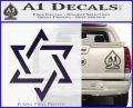 Star Of David Decal Sticker D1 Purple Vinyl Black 120x97