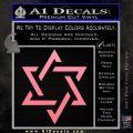 Star Of David Decal Sticker D1 Soft Pink Emblem Black 120x120