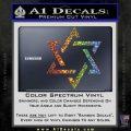 Star Of David Decal Sticker D1 Spectrum Vinyl Black 120x120