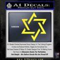 Star Of David Decal Sticker D1 Yellow Vinyl Black 120x120