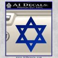 Star Of David Decal Sticker D2 Blue Vinyl Black 120x120