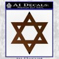 Star Of David Decal Sticker D2 Brown Vinyl Black 120x120