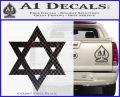 Star Of David Decal Sticker D2 CFB Vinyl Black 120x97