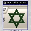Star Of David Decal Sticker D2 Dark Green Vinyl Black 120x120