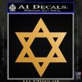 Star Of David Decal Sticker D2 Gold Metallic Vinyl Black 120x120
