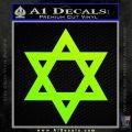 Star Of David Decal Sticker D2 Neon Green Vinyl Black 120x120