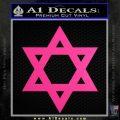 Star Of David Decal Sticker D2 Neon Pink Vinyl Black 120x120