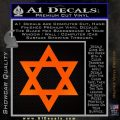 Star Of David Decal Sticker D2 Orange Emblem Black 120x120