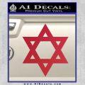Star Of David Decal Sticker D2 Red Vinyl Black 120x120
