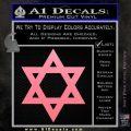 Star Of David Decal Sticker D2 Soft Pink Emblem Black 120x120