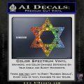 Star Of David Decal Sticker D2 Spectrum Vinyl Black 120x120
