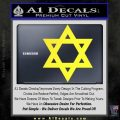 Star Of David Decal Sticker D2 Yellow Vinyl Black 120x120