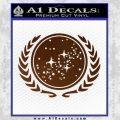 Star Trek Federation Decal Sticker Brown Vinyl Black 120x120