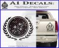 Star Trek Federation Decal Sticker CFB Vinyl Black 120x97