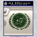 Star Trek Federation Decal Sticker Dark Green Vinyl Black 120x120