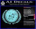 Star Trek Federation Decal Sticker Light Blue Vinyl Black 120x97