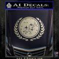 Star Trek Federation Decal Sticker Metallic Silver Vinyl Black 120x120