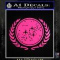 Star Trek Federation Decal Sticker Neon Pink Vinyl Black 120x120
