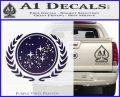 Star Trek Federation Decal Sticker Purple Vinyl Black 120x97