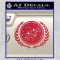 Star Trek Federation Decal Sticker Red Vinyl Black 120x120