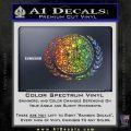 Star Trek Federation Decal Sticker Spectrum Vinyl Black 120x120