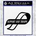Support Our Troops Decal Sticker Black Intricate Vinyl Black 120x120